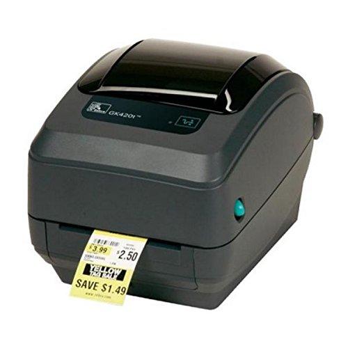 Zebra GK420t - Stampante per etichette termiche, 203 x 203 DPI, 127 mm/sec, Cablato, 8 MB, 4 MB, No