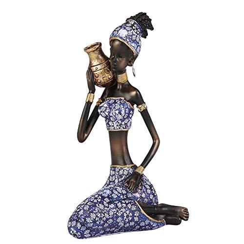 LaLa POP Dekoration Harz Dekoration Afrikanische Puppe Charakter Wohnzimmer Bücherregal/Weinschrank Display Handwerk...