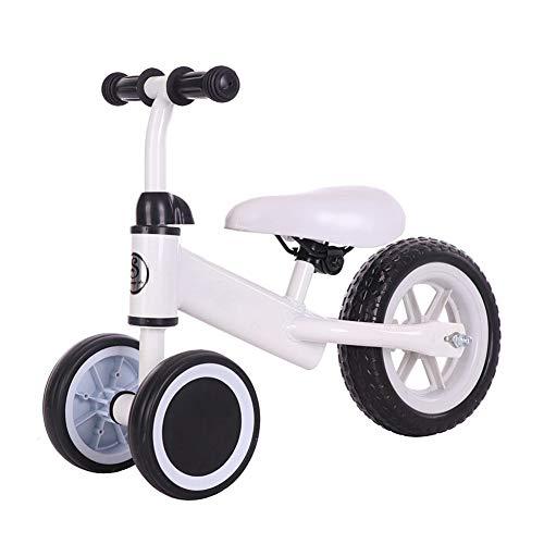Dreiräder Kinderdreirad, Ein Geländegängiger Kinderwagen Portable Dreirad 5 Farben Geeignet For Outdoor-Baby Baby Balance Auto 1-3-5 Jahre Alte Kinder Als Geschenk Verwendet Werden. (Color : White)