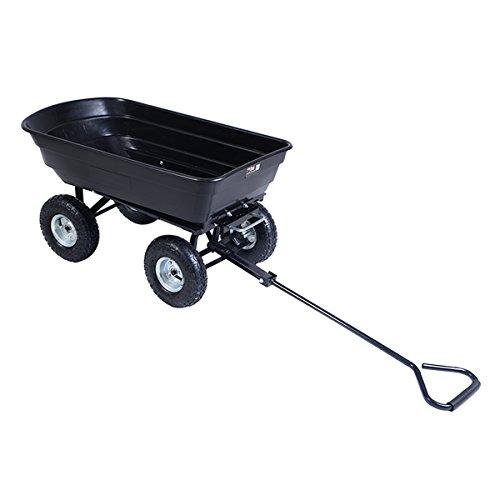 hello world1 650LB Garden Dump Cart Dumper Wagon Carrier Wheel Barrow Air Tires Heavy Duty New
