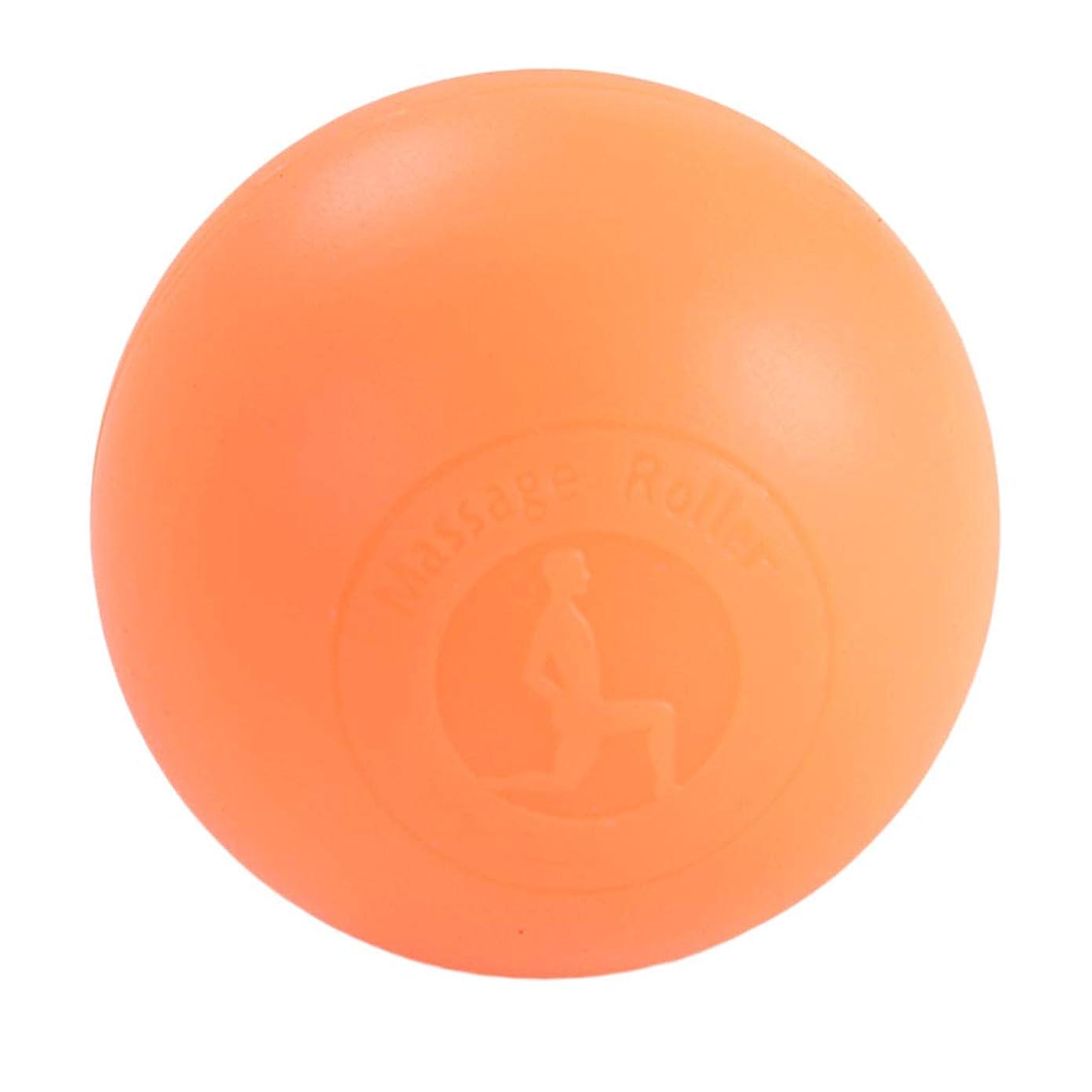 女性眩惑するトランスペアレントFenteer マッサージボール ボディーマッサージ 2色選べ - オレンジ