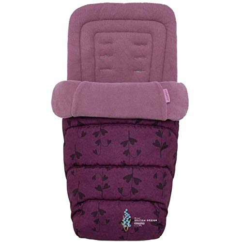Cosatto Universal Footmuff – Cosy Toes, All Season Quilted Pushchair Liner, Washable (Fairy Garden)