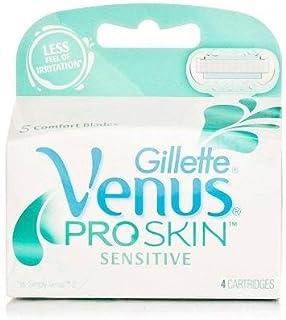 Gilletté Venus ProSkin Sensitive Womens Razor Refill Cartridges 4 Count
