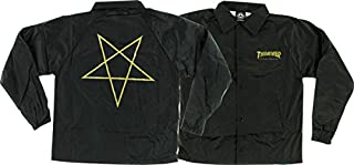 thrasher pentagram coach jacket black