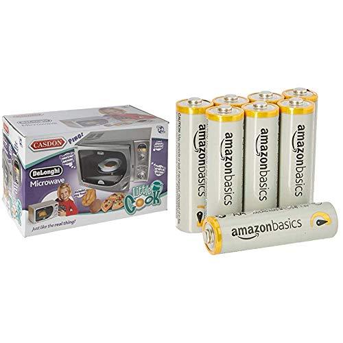 DeLonghi Microwave & Amazon Basics Performance Batterien Alkali, AA, 8 Stück (Design kann von Darstellung abweichen)