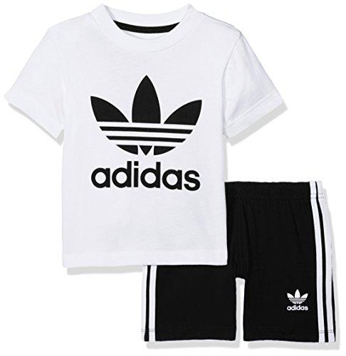 adidas Kinder Shorts und T-Shirt Set, White/Black, 92