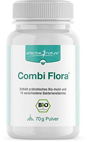 effective nature - Combi Flora Pulver - mit 15 Bakterienstämmen - Ohne Zusatzstoffe - 70 g