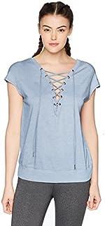 Calvin Klein Women's Short Sleeve Drop Shoulder Tie Back Tee