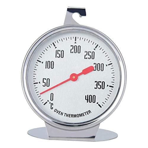 Scucs Mini termómetro de cocina de acero inoxidable, medidor de temperatura de 0 a 400 grados centígrados para el hogar, la cocina y la comida