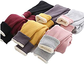 WHPSTZ Children's Clothing Boys Thread Leggings Autumn and Winter Girls Children's Baby Pit Pants Children's Trousers Children's Trousers (Color : Claret, Size : 110cm)