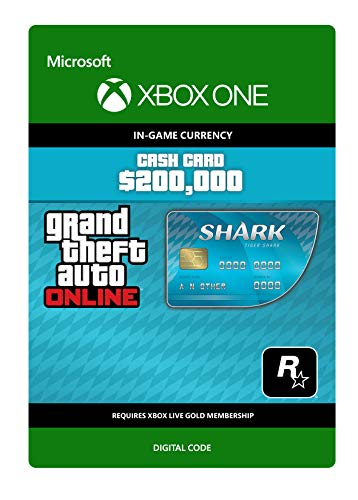 Grand Theft Auto Online - GTA V Tiger Shark Cash Card   200,000 GTA-Dollars   Xbox One - Codice download
