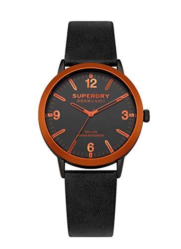 Superdry Reloj Analógico para Hombre de Cuarzo con Correa en Cuero SYG259B