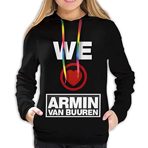Armin Van Buuren - Sudadera con capucha para mujer, estilo hip hop, con capucha