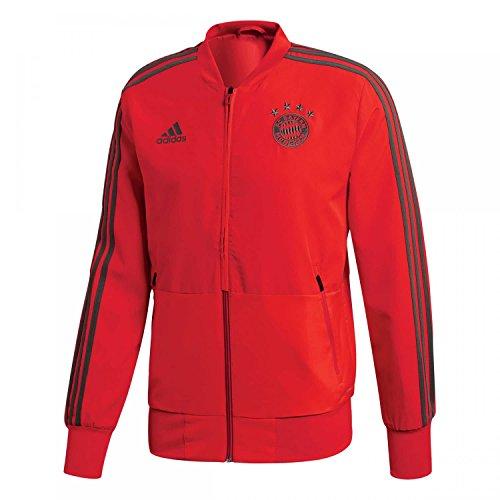 adidas 18/19 FC Bayern Presentation Jacket, Giacca Sportiva Uomo, Rosso/Utility Ivy, S