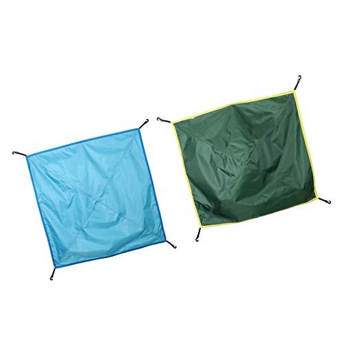 Baoblaze 2X Tienda de Campaña Resistente al Agua Protector Solar Viajes Militares en Verde y Azul