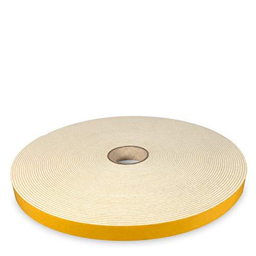 The Felt Store - selbstklebendes Filzband aus weißem Filz, 15 mm breit, 1,5 mm dick, 20 m lang