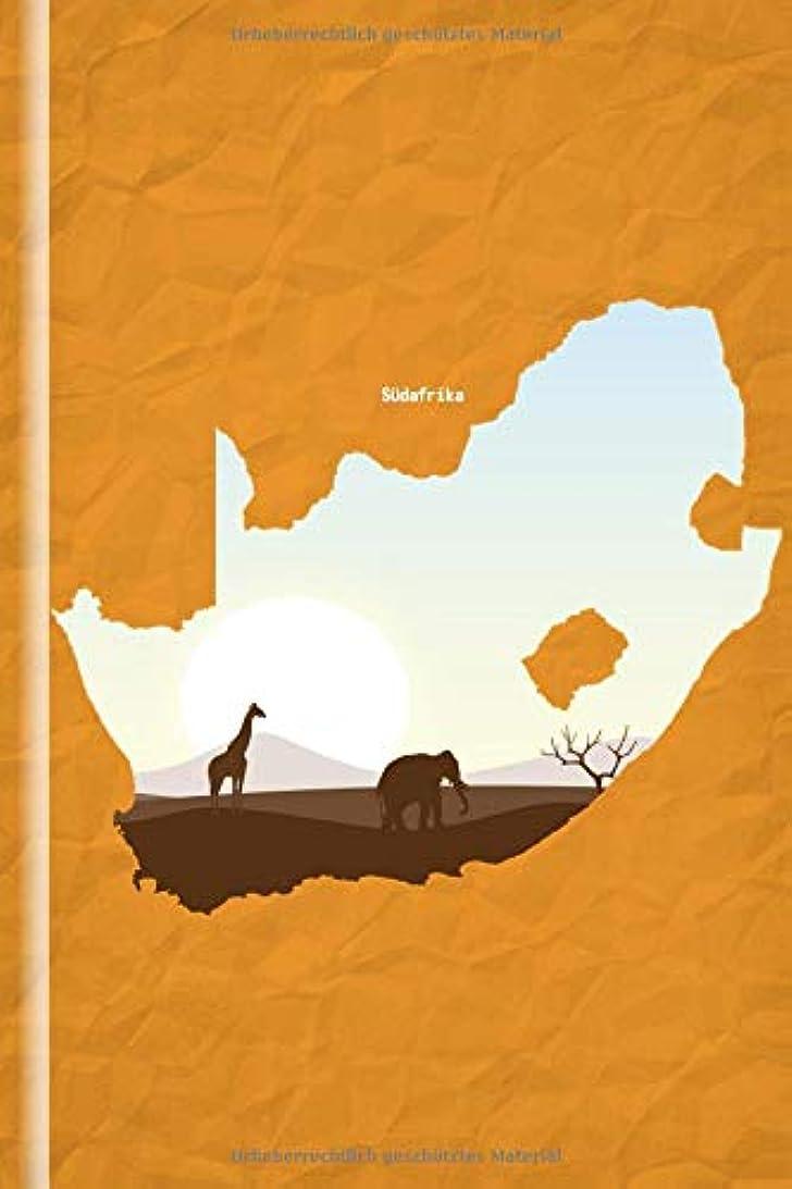 めるぬいぐるみに慣れSuedafrika: Design Notizbuch Suedafrika; 130 Seiten, liniert, Creme-Ton; 6x9 (ca DIN A5);  Cover in Suedafrika-Gestaltung