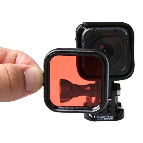 Consumer YHM-Standardgehäuse-Tauchfilter für GoPro HERO5-Sitzung / 4-Sitzung (Lila) (Color : Red)