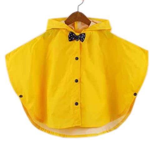 Toddler pluie Jour Veste bébé Veste de pluie imperméable Infant Yellowbowknot S 2–3Y