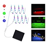 DANCRA LED Strip Light Battery Powered R,G,B Color Changing Flexible LED Strip with 3-Key Controller Underglow Light for Skateboard, Scooter, Longboard, Party, Kids Room Decor(2×2.62ft)