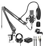 Neewer Kit di Microfono a Condensatore Professionale NW-700 & Cuffie Monitor di Monitoraggio con...