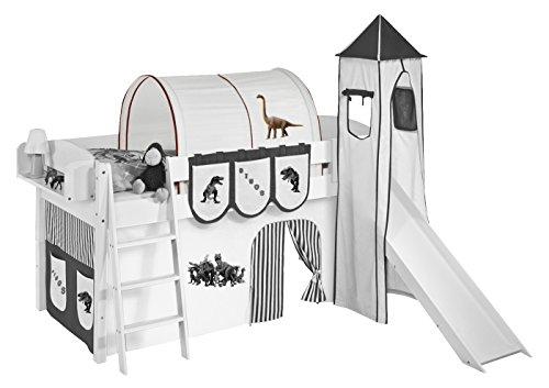 Lilokids Tunnel Dinos Braun Beige - für Hochbett, Spielbett und Etagenbett