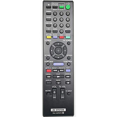 New Replaced RM-ADP072 Remote fit for Sony Blu-Ray BDV-E190 BDV-E385 BDV-E390 BDV-E490 BDV-N790W BDV-T79 BDV-N790 BDV-T39 HBD-E190 HBDE190 HBD-E385 HBDE385 HBD-E390 HBDE390 HBD-N790W HBD-T39 HBD-T79