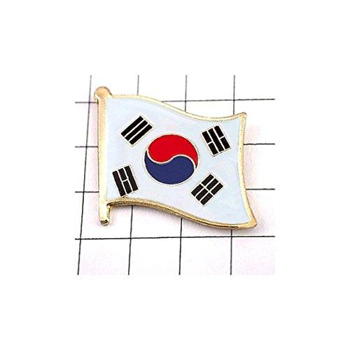 ピンバッジ 韓国国旗デラックス薄型キャッチ付き大韓民国 ピンズ SOUTH KOREA FLAG ピンバッチ