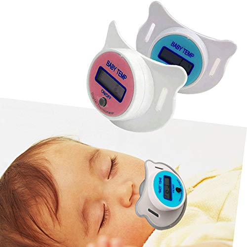 DW007 Weich Säugling Baby Kinder Nippel LCD Digital Mund Schnuller Thermometer Kinder Gesundheit Sicherheit Pfleg,Blau