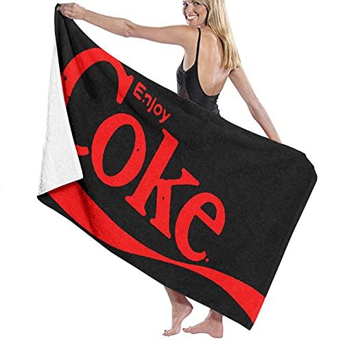 jhgfd7523 Enjoy Coke Toalla de playa Juego de toallas de baño baño Accesorios Toalla de piscina Toalla de viaje y baño 80 cm x 130 cm