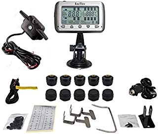 EEZTire-TPMS10B Real Time/24x7 Tire Pressure Monitoring System - 10 Anti-Theft Sensors + Booster, incl. 3-Year Warranty