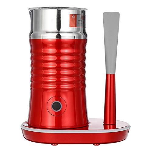 Cappuccino Foam Maker, elektrische koffiemelkopschuim, hete/koele melkopschuimer machine, gemakkelijk te reinigen, stil en snel, melk heerlijk houden, rood