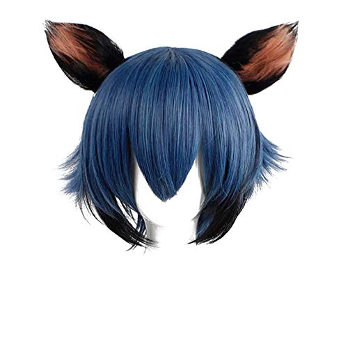 PWEINCY Michiru Kagemori Cosplay Wig with Ears, Anime Bna Animal Role Play Wigs