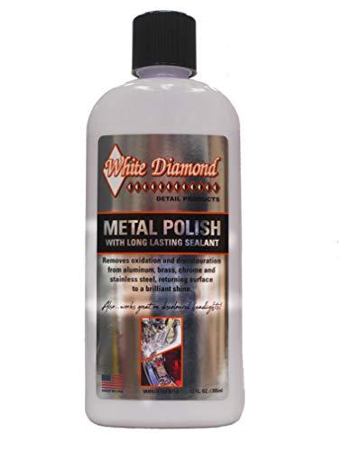 White Diamond Detail Products Metallpolitur mit Frottee- und Mikrofasertuch