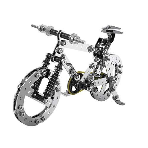 Fujinfeng 3D Metall Puzzle für Erwachsene Junge Mädchen, 228 Stück Rennrad Metal DIY Model Puzzle 3D Modellbausatz Metall 3D Kit