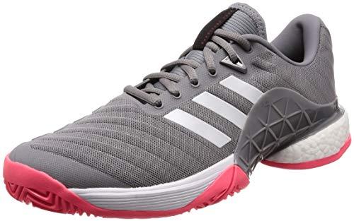 Adidas Barricade 2018 Boost, Zapatillas de Tenis Hombre, Blanco (Blanco 000), 43 1/3 EU