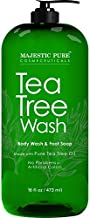 Majestic Pure Tea Tree Body Wash - Formulated to Combat Dry, Flaky Skin - Soothes, Nourishes and Moisturizes Irritated, Chapped, Problem Skin Areas - (Packaging may Vary) -16 fl. oz.