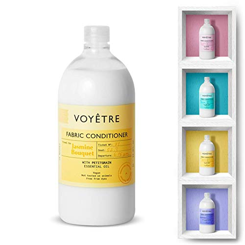 Voyetre Suavizante Concentrado para lavadora – Natural, vegano, fórmula biodegradable [1L – 28 lavados] (Jasmine Bouquet)