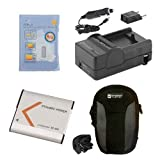 Syenrgy Digital Camera Accessory Kit Works with Sony DSC-QX30 Digital Camera includes: SDNPBN1 Battery, SDM-1515 Charger, SDC-22 Case, ZELCKSG Care & Cleaning