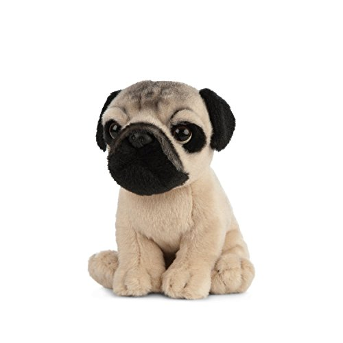 Living Nature Soft Toy - Stofftier Mops Welpe (16cm)