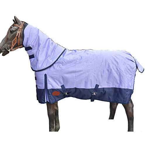 AMAIRS Paard Tapijt Turnout, Winter Katoen Paard Kleding Verwijderbare Kraag Waterdichte Gecapitonneerde Koude Trui