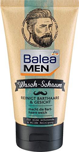 Balea MEN Bart Waschschaum, 150 ml markanter Duft mit Bergamotte und Tonkabohne