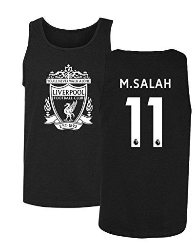 Tcamp Liverpool #11 Mohamed Salah Premier League Men's Tank Top (Black, Adult XX-Large)