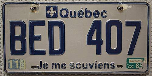 QUEBEC Nummernschild KANADA Auto - Kennzeichen # Blechschild aus Nordamerika # CANADA