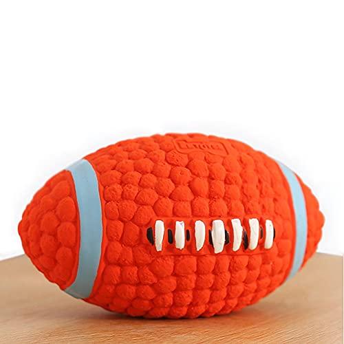 Tecatty Tiere Gummi Rugby, Interaktives Zahn-Training Zähne Reinigungsball,unzerstörbares Robust Langlebig espielzeug-Bälle Für Kleine mittelgroße Hund