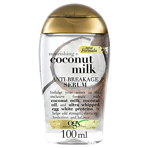 OGX Leche de Coco, serúm, cabello quebradizo, protección aromática - 118 ml