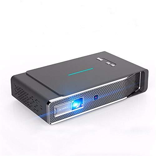 BESISOON Proyectores 1280x800dpi proyector en Pantalla Full HD 1080P Wireless 3800 lúmenes 3D LED proyector de Cine en casa Cine 2 GB + 16 GB (Color : Photo Color, Size : One Size)