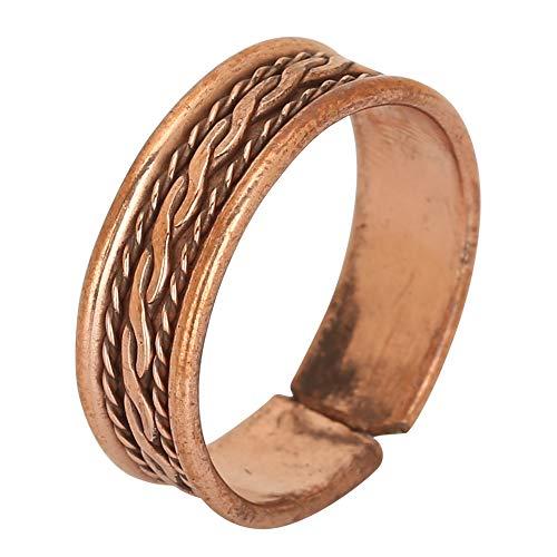 iCraftJewel Anello di Pollice di Rame Puro di 100% Bio Regalo di Gioielli alla Moda dell anello Marrone di correttore di Dolore curativo
