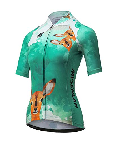 Mysenlan Maillot de Ciclismo Mujer Camiseta Manga Corta Jersey Ropa para Bicicleta...
