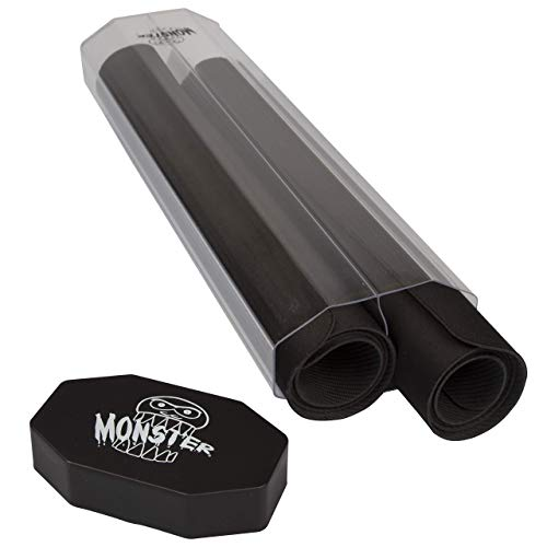 Monster Protectors Dual Playmat Tube Prism-Shaped Play Mat Case Holds Two Playmats at Once - Won't Roll Off Surface and Easy in and Out Design w Secure Lid
